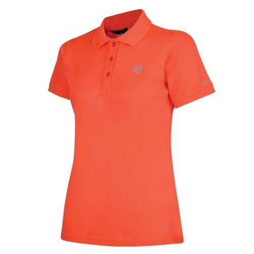 Women's Set Forth Polo Shirt Fiery Coral